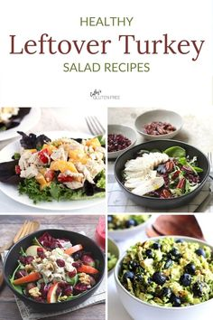 If you're wondering what to do with leftover, cooked turkey, try Cathy's Gluten Free clean eating salads. They're the best quick, easy, and healthy creations for the second act.