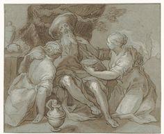 Lot en zijn dochters, Abraham Bloemaert, Anonymous, 1574