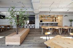 シェアプレイス東神奈川99 Cafe Interior, Interior Design, Business Office Decor, Barber Shop Decor, Creative Office Space, Studio Kitchen, Workplace Design, Co Working, Office Interiors