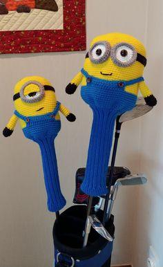 Crochet Crafts, Knit Crochet, Crochet Ideas, Golf Club Headcovers, Golf Club Covers, Golf Clubs, Minions, Knitting Patterns, Stitch