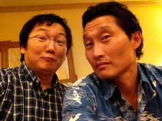 Masi Oka & Daniel Dae Kim...I AM SPAZZING OUT RIGHT NOW!!! NOT ONLY WERE LOST AND HEROES MY FAVORITE SHOWS BUT THEY WERE MY FAVORITE CHARACTERS!!!!!