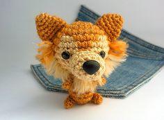 Amigurumi Pomeranian crochet Pomeranian Stuffed dog. by Owlystore