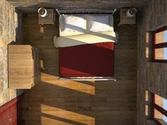 Chios Greece Patrika, renovation of an old medieval house, bedroom on the top