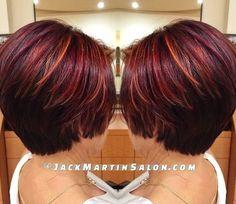 burgundy+hair+with+orange+highlights