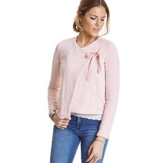 knitted wings cardigan CRYSTAL ROSE