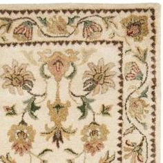 @Overstock - Handmade Eden Ivory Hand-spun Wool Rug (2'3 x 10') - This European French inspired designs pays tribute to timeless Aubusson and Persian designs with floral motifs reproduced in a hand-tufted construction using an extra tight weaving and premium hand-spun wool.    http://www.overstock.com/Home-Garden/Handmade-Eden-Ivory-Hand-spun-Wool-Rug-23-x-10/6128416/product.html?CID=214117  $157.49