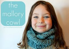 The Mallory Cowl - free pattern! Who says our kidlets can't rock cowls too :P