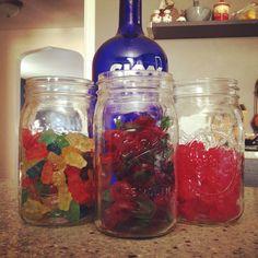 Vodka Soaked Gummy Bears. Soak gummy bears in vodka for a minimum of 3 days. Much cuter than a jello shot!