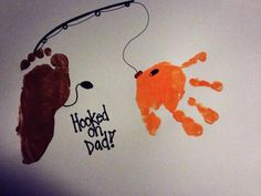 Father's Day Gifts for Preschoolers to Make | Hooked on Dad! A Fathers Day craft for preschool.