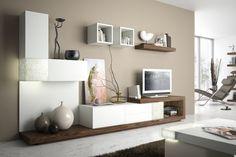 beige wandfarbe und modulare wohnwand in weiss und holz wohnwand weiss holz wohnzimmer farbe