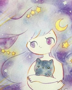 就跟貓咪一樣輕輕地陪著你的小憂鬱 特別適合秋天的溫暖插畫 | makkuroame、Amelia C、ameliacan、Amelia、插畫 | 微文青 | 妞新聞 niusnews