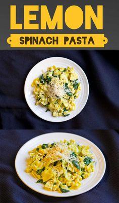 Lemon Spinach Pasta - Easy, Ready in 20 Min, Vegan + Vegetarian Friendly