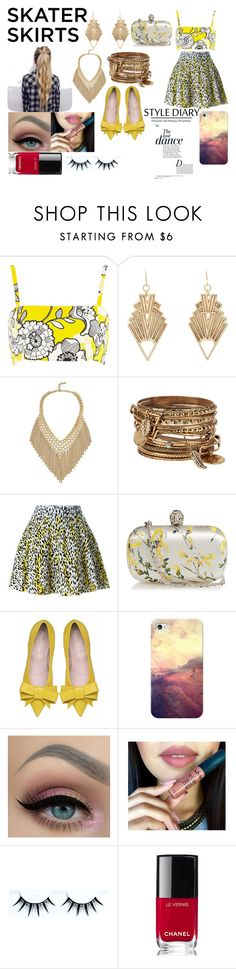 """""""skating my way into your heart"""" by ivy-mary-clark ❤ liked on Polyvore featuring River Island, Charlotte Russe, ALDO, Kenzo, Alexander McQueen, Casetify, Chanel and Anja"""