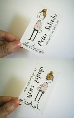 "Cute illustration business card. Want to learn how to create amazing business cards? Download for FREE ""The Complete Guide to Business Cards"" today at www.allbcards.com. Limited time offer!!"