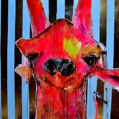 giraffe faced wallpaper idea no.5 by Anthony Bennett
