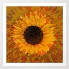 Sunflower Art Print by imagology Sunflower Art, Art Prints, Painting, Art Impressions, Painting Art, Paintings