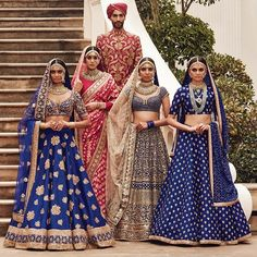 Find your wedding outfit from Sabyasachi Mukherjee SS 2016 indian bridal collection! From traditional lehengas to floral modern bridal options Indian Wedding Fashion, Indian Bridal Wear, Indian Wedding Outfits, Indian Wear, Indian Outfits, Red Indian, Saris, India Fashion, Asian Fashion