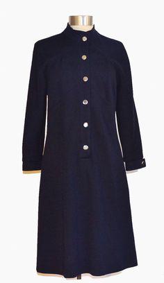 Vintage 60s Butte Knit Navy Dress item 6005 by MercantileRepublic, $50.00