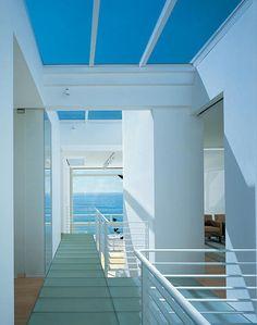 Eli + Edythe Broad beach house, Malibu, CA. By Richard Meier