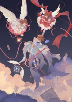 card captor sakura, an art print by Yomiya - INPRNT Cardcaptor Sakura, Yue Sakura, Sakura Card Captor, Syaoran, Japan Sakura, Anime Art Girl, Anime Girls, Manga Anime, Clear Card