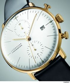 Junghans Max Bill Gold Chronoscope Anniversary Edition