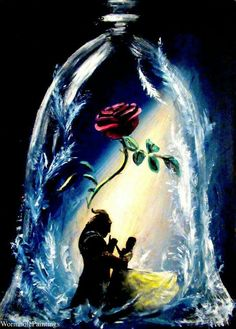 Little homage to Beauty and the Beast I painted today because of some post-new trailer hype  Walt Disney, Disney Belle, Disney Love, Disney Magic, Disney Princess, Beauty And The Beast Artwork, Belle Beauty And The Beast, Beauty And The Beast Tattoo, Beauty Beast
