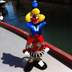 #Clown original Murano Glass, see the trademark on his foot?  By Fratelli Pitau (code number 053)