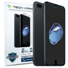 Reduce glare and resist fingerprints from your iPhone 7 Plus by using the Tech Armor Anti-Glare Screen Protector! Why not get extra for your friends? ;)