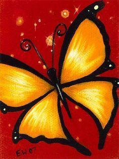 Cuadro: mariposa. juvenil: