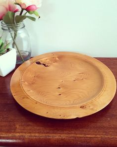 Beautiful Wooden Plate- Made From Tasmanian Birdseye Huon Pine & Natural edge dish wood turned by Jason Rogasch @ Malleewoodcrafts to ...