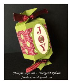 Joyous Celebrations, Candy Wrapper Die, Festival of Prints DSP; by Margaret Raburn