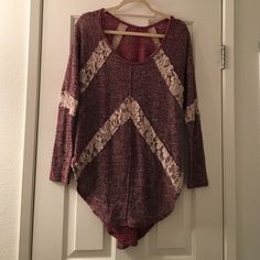 We The Free sweater Large Brand new without rags, plastic for tag still attached. We the Free by Free People. Ploy, rayon, nylon, spandex blend Free People Sweaters Crew & Scoop Necks