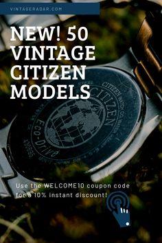 Cute Watches, Vintage Watches, Watches For Men, Watch Diy, Wear Watch, Roman Numerals Dates, Citizen Watches, Citizen Eco, Watch Model