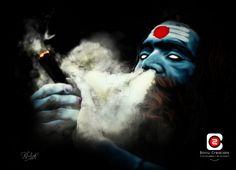Lord Shiva Portrait by Bottu creations Mahakaal