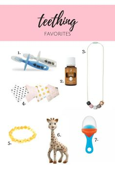 teething favorites. the best ways to cope with teething.