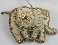 rupalee Fair Trade With Style- elephant Christmas ornament