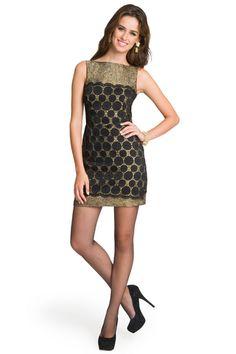 Milly black lace combo dress