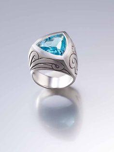 Celtic Statement Ring - celtic ring , silver ring , engagement ring , gemstone ring , for men , silv