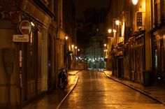 Paris in the wee wee hours of the morning.