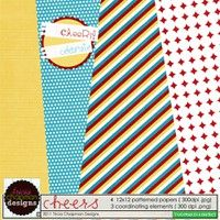 DigiKit - Cheers By Tricia Chapman      CHEERS to a Festive Freebie from me to you!   4 patterned papers and 3 super fun coordinating elements!      ENJOY!