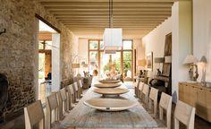 Gorgeous open floor plan, French home of Catherine Bezencon