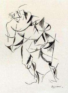 Dynamism of the human body: Boxer, 1913 - Umberto Boccioni