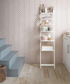 Tops Tiles Artisau™ Gloss Pink Tile. Also comes in white (for splashback?)