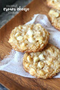 White Chocolate Coconut Cream Cheese Cookies