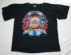 1f486800d Vintage Dallas COWBOYS Buffalo BILLS 1993 SUPER BOWL XXVII T-SHIRT-Men s L-