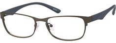 Gray Stainless Steel Full-Rim Frame With Plastic Temples 531712
