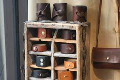 leather shop cuffs at barbara shaum