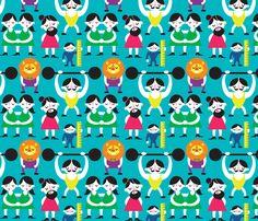 The Weird and Wonderful Sideshow fabric by jordan_elise on Spoonflower - custom fabric