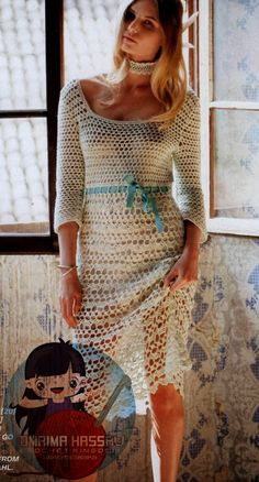 Taupe Crochet Dress free crochet pattern