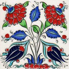Osmanlı Saray Çinileri İznik Duvar Panoları Turkish Tile Art Karoları Turkish Design, Turkish Art, Turkish Tiles, Ceramic Tile Art, Ceramic Painting, Fabric Painting, Tuile, Bright Art, Faux Stained Glass